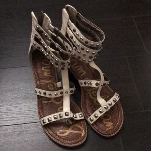 White studded Sam Edelman Booties